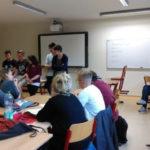 Schülerinnen und Schüler beim Projekttag in Barnim