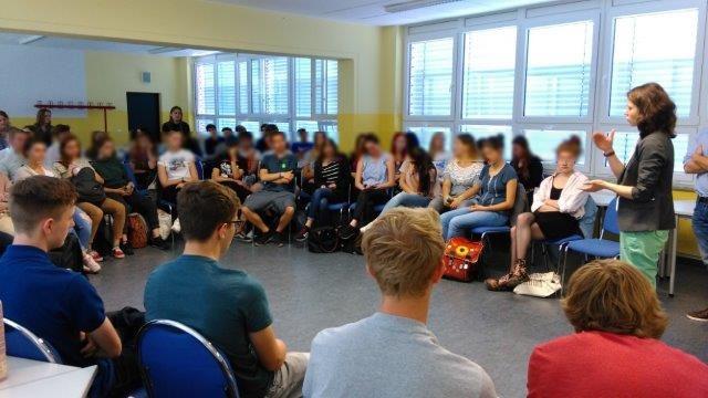 Diskussionsrunde beim Projekttag in Potsdam