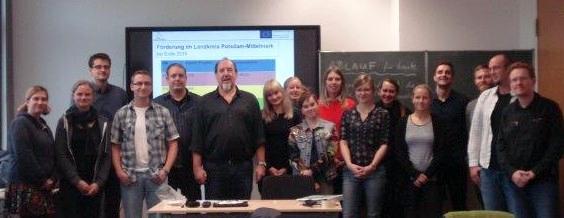 Fortbildung in Potsdam mit angehenden Lehrerinnen und Lehrern