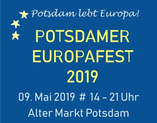 Potsdamer Europafest 9.5.2019, Alter Markt Potsdam, 14-21 Uhr