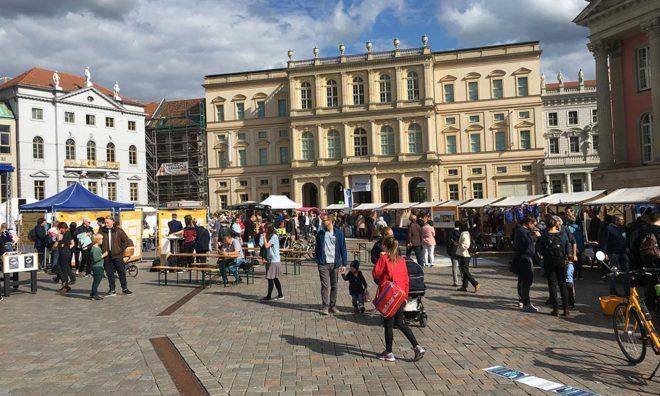 Europafest vor historischer Kulisse. Potsdam 9.5.2019