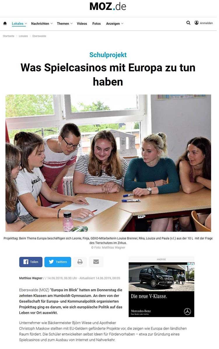 Artikel moz.de: Was Spielkasinos mit Europa zu tun haben. 14.6.2019