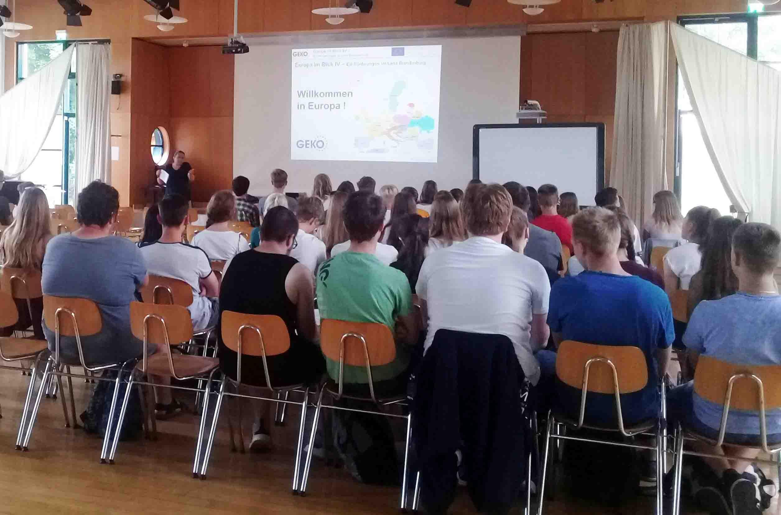 Projekttag im Alexander-von-Humboldt-Gymnasium in Eberswalde. 2019